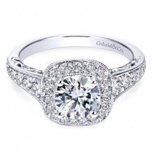 14k White Gold Gabriel & Co. 0.60ct Diamond Engagement Ring