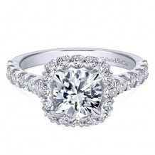 14k White Gold Gabriel & Co. 0.77ct Diamond Engagement Ring