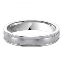 14k White Gold Ladies 4.5mm Wedding Band