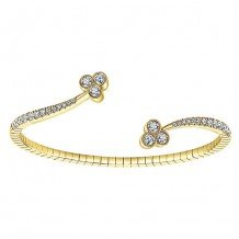 14k Yellow Gold Gabriel & Co. Diamond Bangle Bracelet