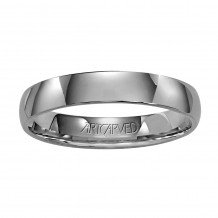ArtCarved Palladium 4mm Low Dome Comfort Fit Wedding Band