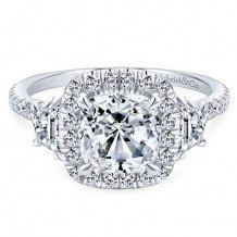 14k White Gold Gabriel & Co. 0.91ct Diamond Engagement Ring