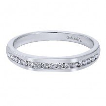 Gabriel & Co 14k White Gold 0.23ct Diamond Wedding Band