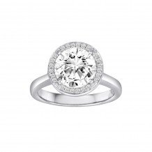 18k White Gold Cherie Dori 0.23ct Diamond Semi Mount Engagement Ring