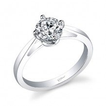 14k White Gold Coast Diamond 0.05ct Diamond Semi-Mount Engagement Ring With Milgrain Details