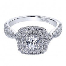 14k White Gold Gabriel & Co. 0.50ct Diamond Engagement Ring
