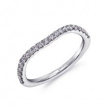 Coast 14k White Gold 0.31ct Diamond Wedding Band