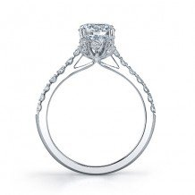 14k White Gold Coast Diamond 0.4ct Diamond Semi-Mount Fishtail Engagement Ring