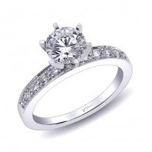 14k White Gold Coast Diamond 0.26ct Diamond Semi-Mount Engagement Ring