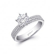 14k White Gold Coast Diamond 0.33ct Diamond Semi-Mount Fishtail Engagement Ring