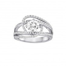 18k White Gold Cherie Dori 0.54ct Diamond Semi Mount Engagement Ring