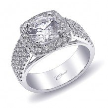 14k White Gold Coast Diamond 0.77ct Diamond Semi-Mount Fishtail Engagement Ring