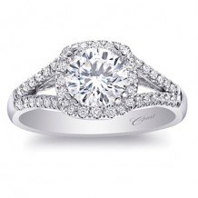 14k White Gold Coast Diamond 0.24ct Diamond Semi-Mount Fishtail Engagement Ring
