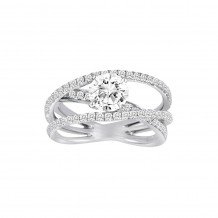 18k White Gold Cherie Dori 0.69ct Diamond Semi Mount Engagement Ring