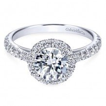 14k White Gold Gabriel & Co. 0.57ct Diamond Engagement Ring