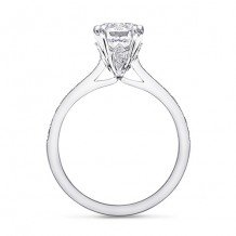 14k White Gold Coast Diamond 0.22ct Diamond Semi-Mount Fine Pave Milgrain Engagement Ring