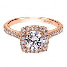 14K Pink Gold Gabriel & Co. 0.39ct Diamond Engagement Ring