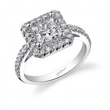14k White Gold Coast Diamond 42ct Diamond Semi-Mount Fishtail Engagement Ring