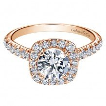 14K Pink Gold 0.55ct Diamond Engagement Ring