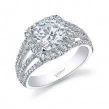 14k White Gold Coast Diamond 0.58ct Diamond Semi-Mount Fishtail Engagement Ring