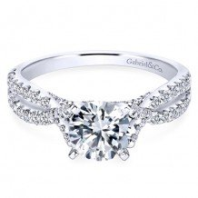 14k White Gold Gabriel & Co. 0.54ct Diamond Engagement Ring