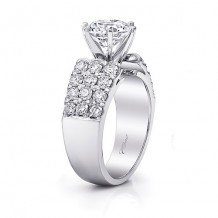 14k White Gold Coast Diamond 1.22ct Diamond Semi-Mount Fishtail Engagement Ring