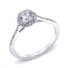 14k White Gold Coast Diamond 0.15ct Diamond Semi-Mount Fishtail Engagement Ring