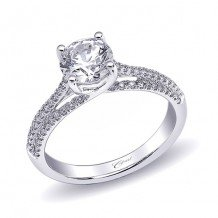 14k White Gold Coast Diamond 0.26ct Diamond Semi-Mount Fishtail Engagement Ring