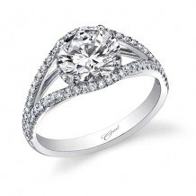 14k White Gold Coast Diamond 0.31ct Diamond Semi-Mount Engagement Ring