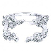 Gabriel & Co 14k White Gold 0.69ct Diamond Jacket Band