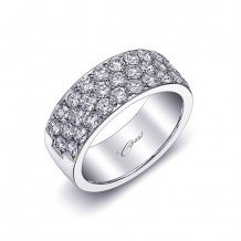 Coast 14k White Gold 1.78ct Diamond Wedding Band