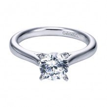 14k White Gold Gabriel & Co. 1.0ct Diamond Engagement Ring