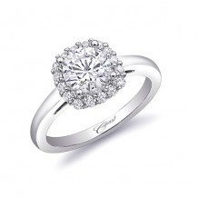 14k White Gold Coast Diamond 0.27ct Diamond Semi-Mount Engagement Ring