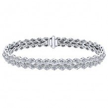 14k White Gold Gabriel & Co. Diamond Tennis Bracelet