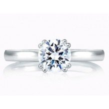 A. Jaffe 18k White Gold Classic Double Prong Solitaire Engagement Ring